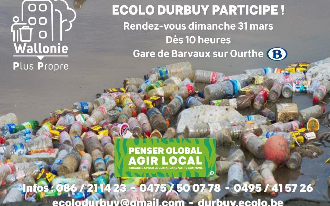 Wallonie Plus Propre – Ecolo Durbuy participe