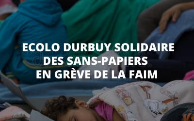 Ecolo Durbuy solidaire des sans-papiers en grève de la faim